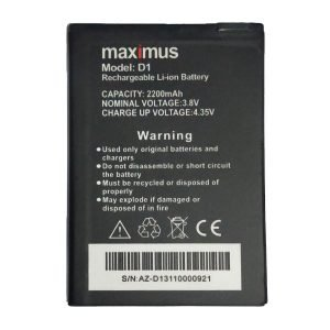 Maximus D1 battery