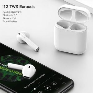 I12 TWS Bluetooth 5.0 Earbuds True Wireless Touch Control Bluetooth Earphones
