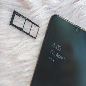 Samsung A50 Sim Tray Card Holder Sim Slot